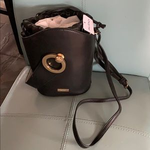 Gorgeous Black Leather Bucket Bag